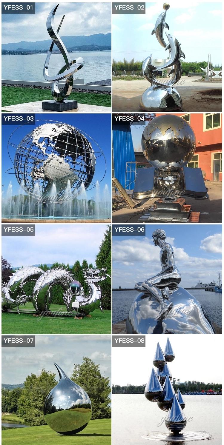 1IC18002 Modern Stainless Steel Sculpture Manufacturer (5)