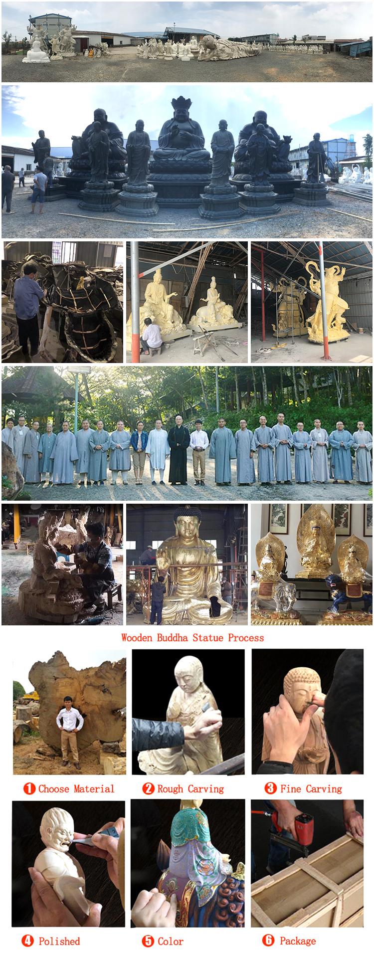 Wooden Buddha Statue Process Main