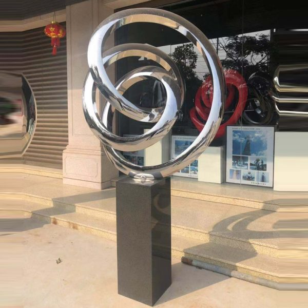 stainless steel outdoor sculpture (3)