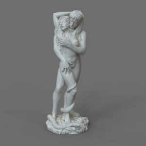 1J413001 adam and eve statue sculpture snake (1)