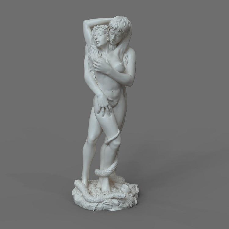 1J413001 adam and eve statue sculpture snake (1)