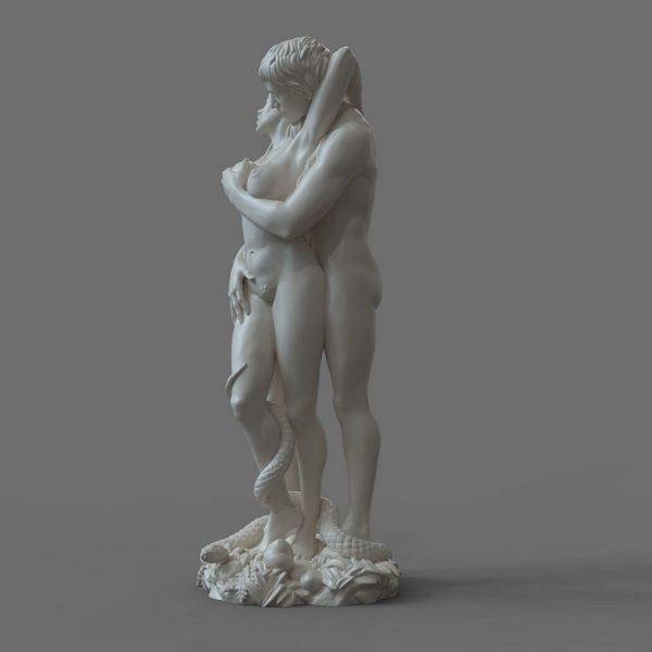 1J413001 adam and eve statue sculpture snake (3)