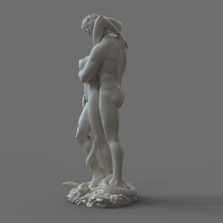 1J413001 adam and eve statue sculpture snake (4)
