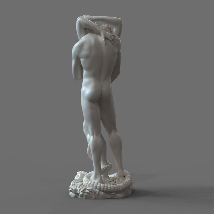 1J413001 adam and eve statue sculpture snake (5)