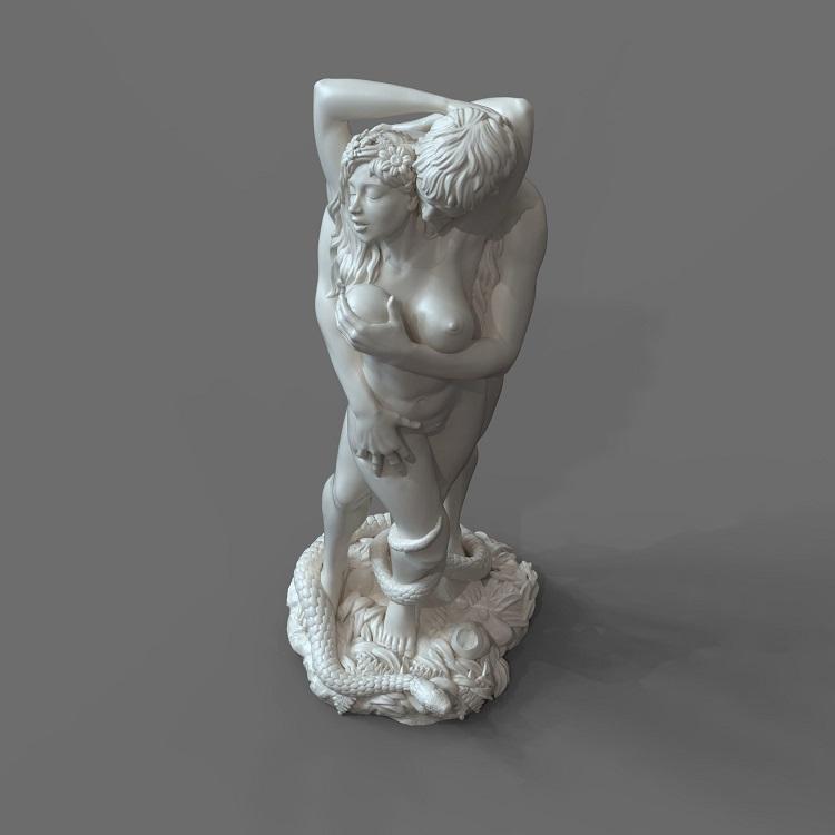 1J413001 adam and eve statue sculpture snake (6)