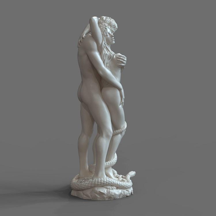 1J413001 adam and eve statue sculpture snake (8)