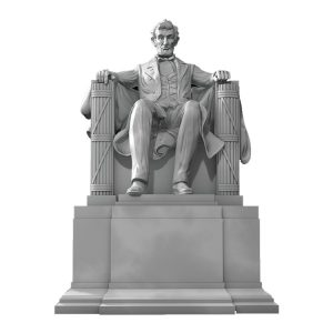 1J506001 Abraham Lincoln Sitting Statue Supply (1)