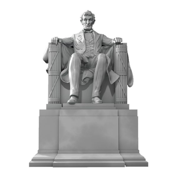 1J506001 Abraham Lincoln Sitting Statue Supply (1)