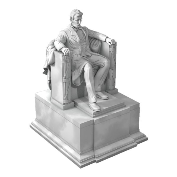 1J506001 Abraham Lincoln Sitting Statue Supply (3)