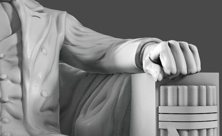 1J506001 Abraham Lincoln Sitting Statue Supply (5)