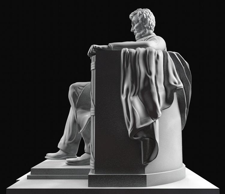 1J506001 Abraham Lincoln Sitting Statue Supply (6)
