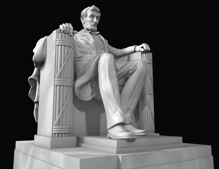 1J506001 Abraham Lincoln Sitting Statue Supply (9)