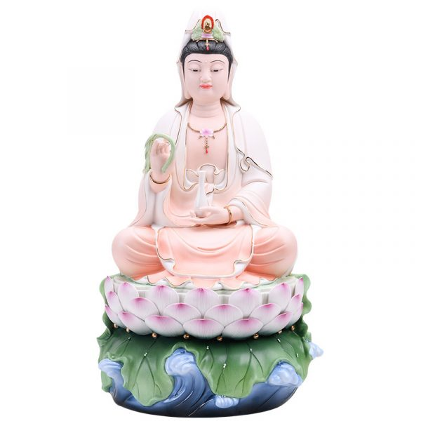 1J513001 white porcelain kwan yin statue (1)