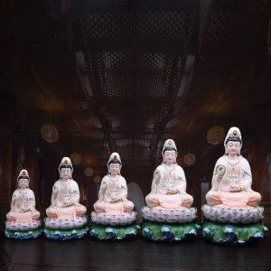 1J513001 white porcelain kwan yin statue (2)