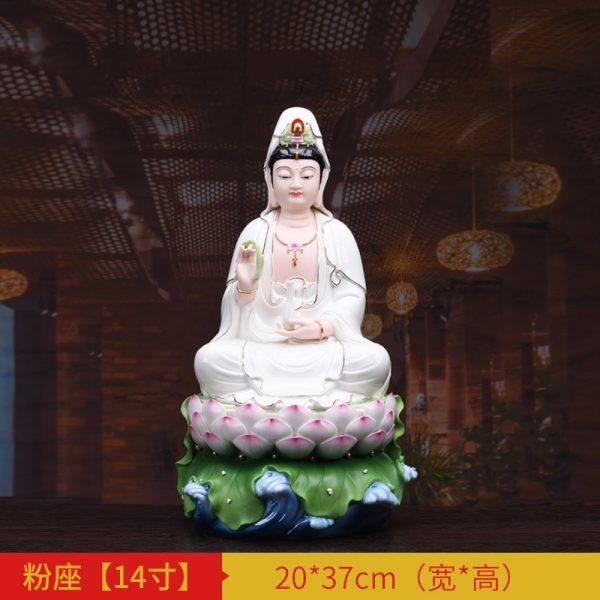 1J513001 white porcelain kwan yin statue A (2)