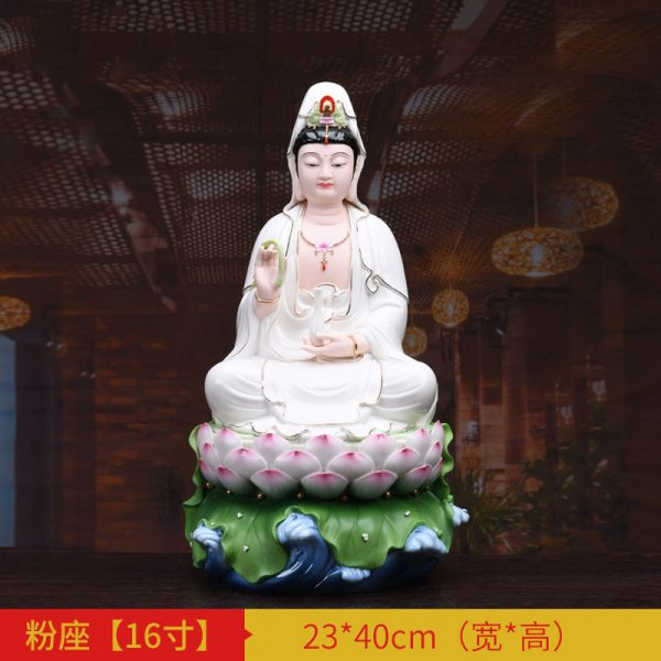 1J513001 white porcelain kwan yin statue A (3)