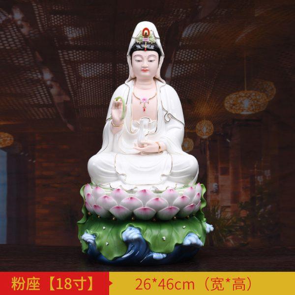 1J513001 white porcelain kwan yin statue A (4)