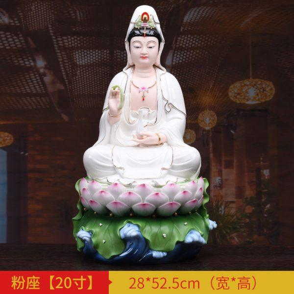 1J513001 white porcelain kwan yin statue A (5)