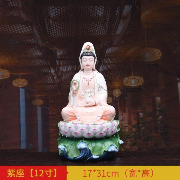 1J513001 white porcelain kwan yin statue B (1)