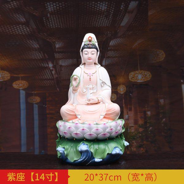 1J513001 white porcelain kwan yin statue B (2)