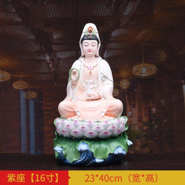 1J513001 white porcelain kwan yin statue B (3)