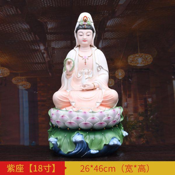 1J513001 white porcelain kwan yin statue B (4)