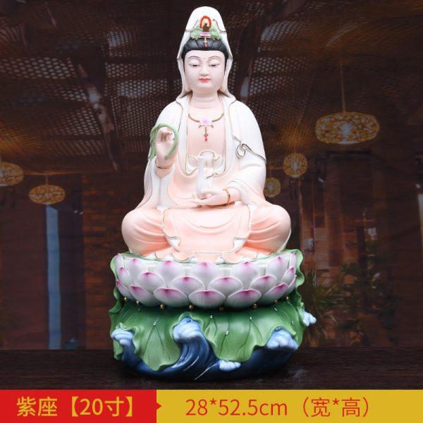 1J513001 white porcelain kwan yin statue B (5)