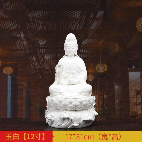 1J513001 white porcelain kwan yin statue C (1)