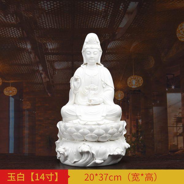 1J513001 white porcelain kwan yin statue C (2)