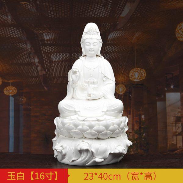 1J513001 white porcelain kwan yin statue C (3)