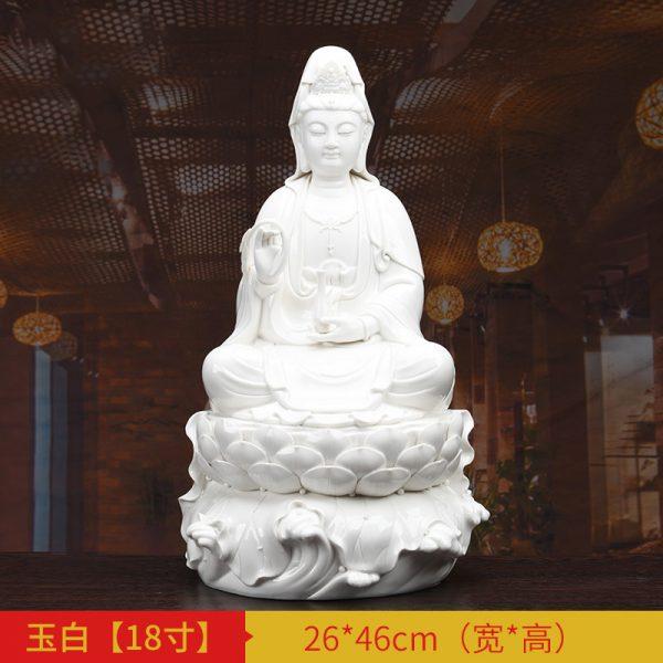 1J513001 white porcelain kwan yin statue C (4)