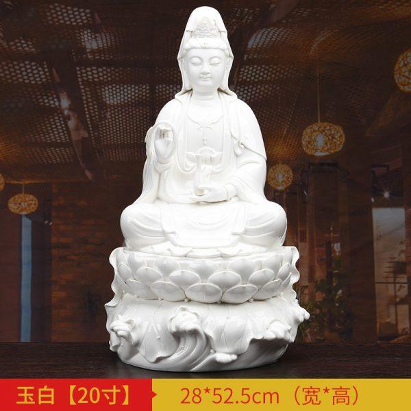 1J513001 white porcelain kwan yin statue C (5)