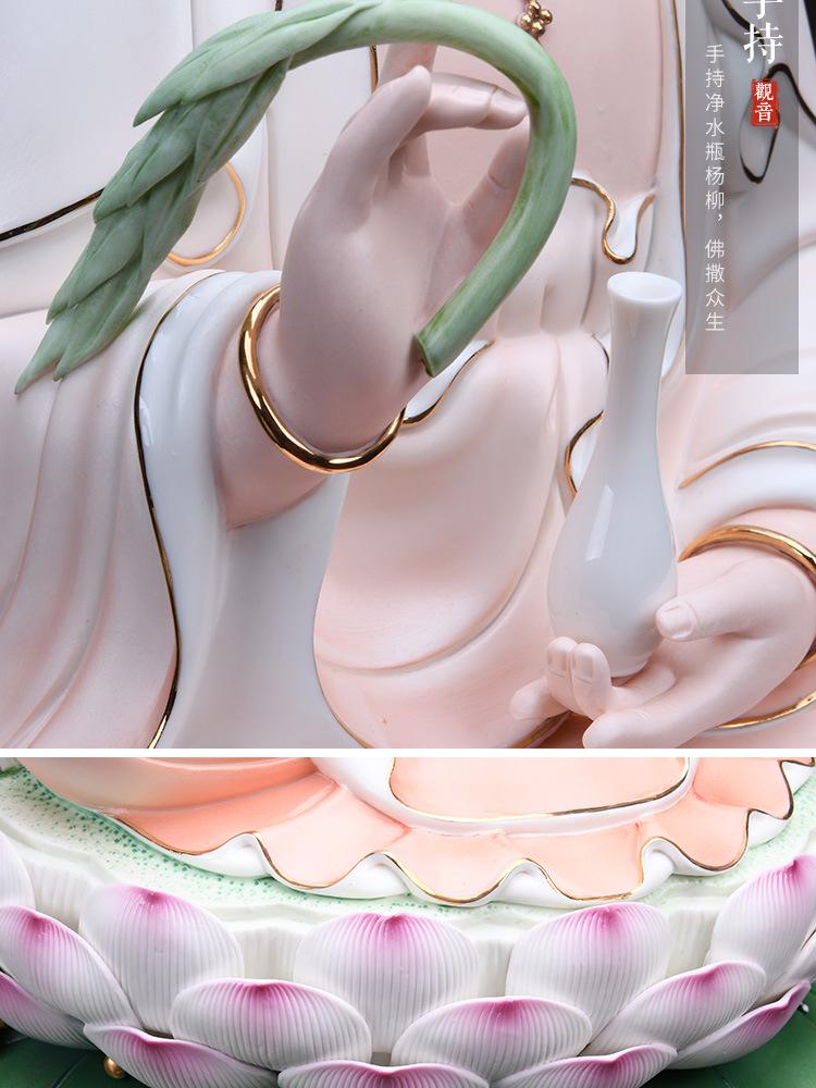 1J513001 white porcelain kwan yin statue detail (14)