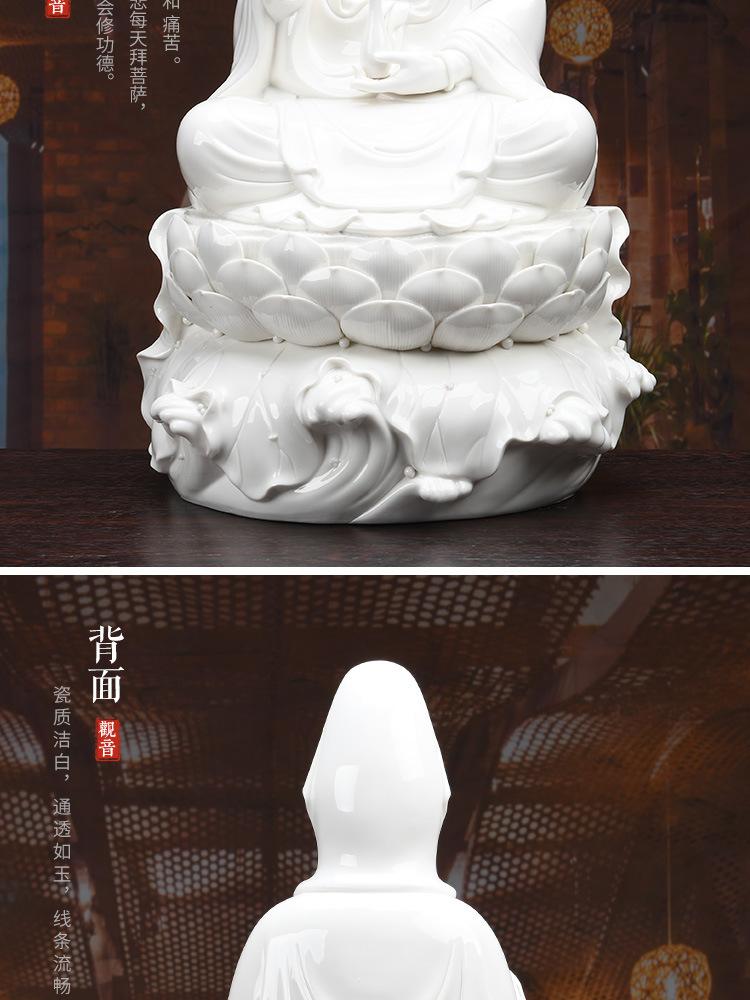 1J513001 white porcelain kwan yin statue detail (16)