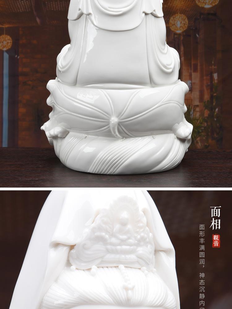 1J513001 white porcelain kwan yin statue detail (17)
