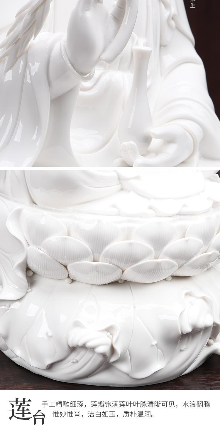 1J513001 white porcelain kwan yin statue detail (19)