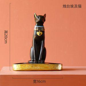 1J526001 Candle Holder 25 bast deusa gato do egito