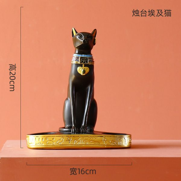 1J526001 Candle Holder 25 bast deusa gato do egito