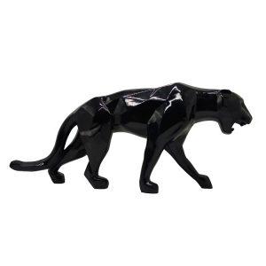 Black Leopard Statue Panthere Noir