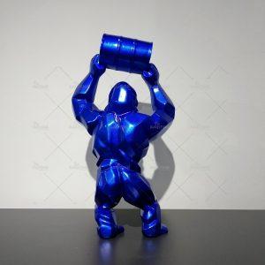 Fiberglass Gorilla Statues Gorille Bleu (14)