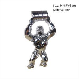 02 Life Size Gorilla Statue For Sale
