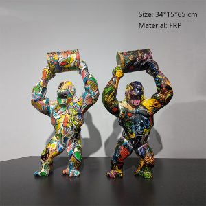 03 Gorilla Sculpture For Sale