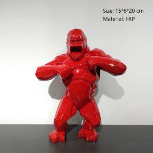 05 Statue Gorille Rouge