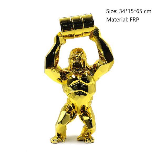 07 Gorilla Ornament Golden