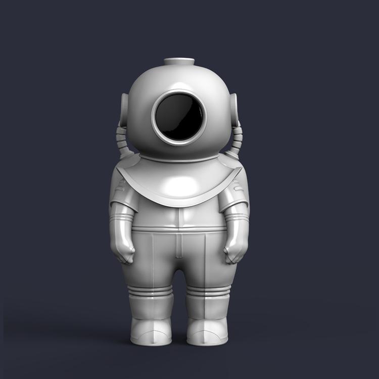 1I709065 deep sea diver statue