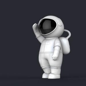1I709065 life size astronaut statue