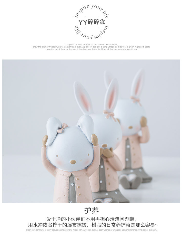 Rabbit Figurines Collectibles China Maker Detail (15)