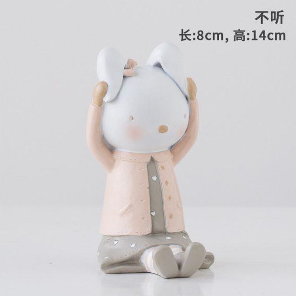 Rabbit Figurines Collectibles No Hear