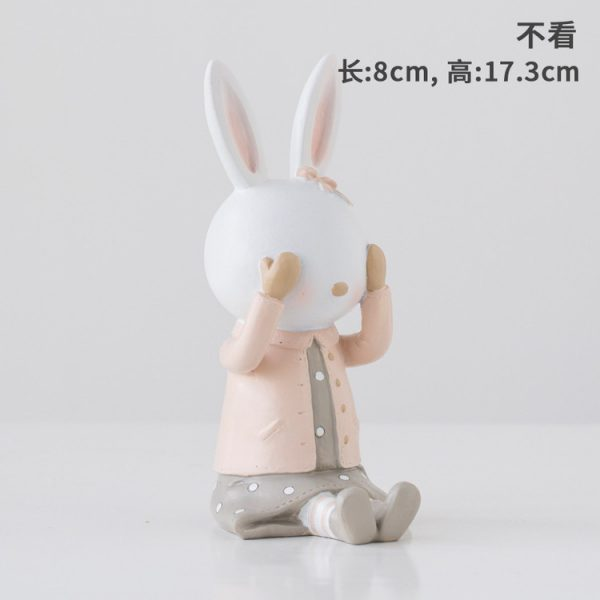 Rabbit Figurines Collectibles No See