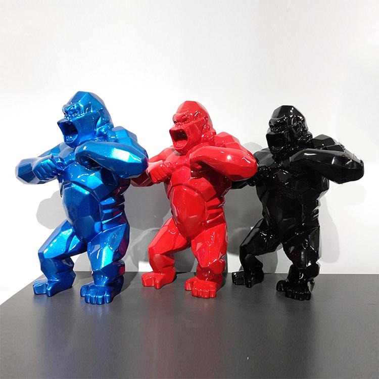 Statue Gorille Sculpture Resine Deco (1)